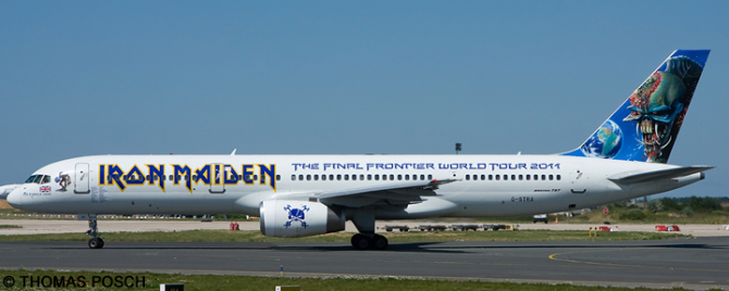 Astraeus, Iron Maiden --Boeing 757-200 Decal