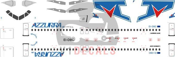 Azzurra Air Airbus A320 Decal