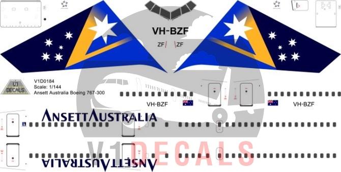 Ansett Australia -Boeing 767-300 Decal