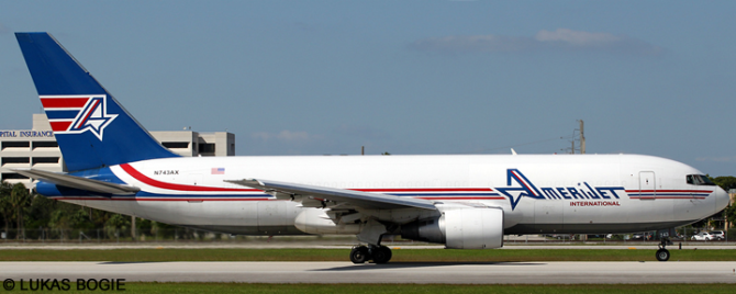 Amerijet International -Boeing 767-200 Decal