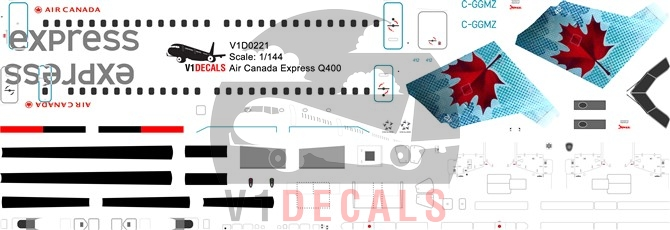 Air Canada Express, Air Canada Jazz -Bombardier Dash 8-Q400 Decal