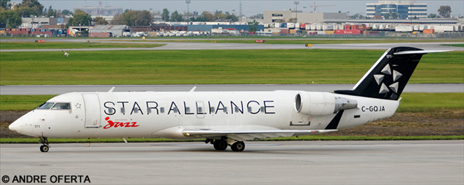 Air Canada Jazz, Star Alliance (Various Airlines) --Bombardier CRJ 100/200 Decal