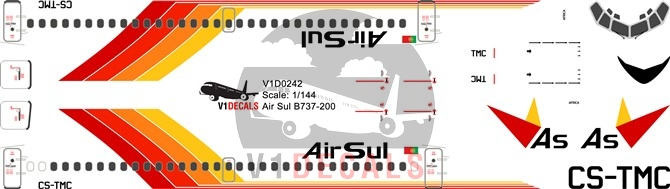 Air Sul -Boeing 737-200 Decal