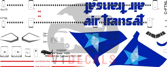 Air Transat -Lockheed L-1011-100 Tristar Decal