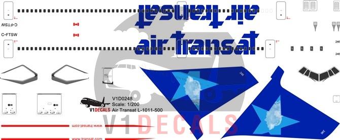 Air Transat -Lockheed L-1011-500 Tristar Decal