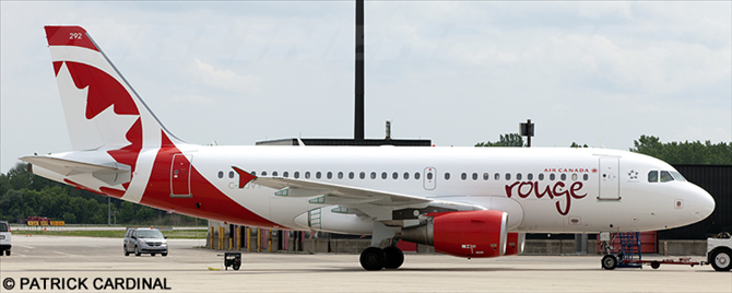 Air Canada Rouge Airbus A319 Decal