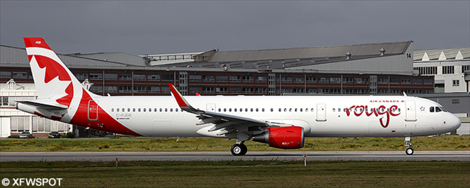Air Canada Rouge Airbus A321 Decal