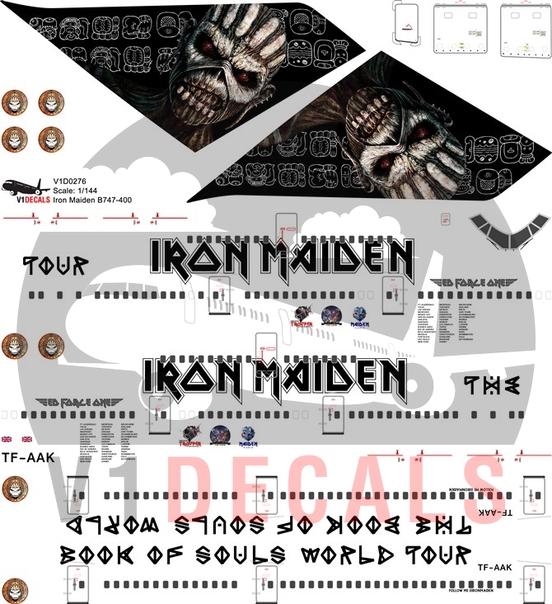 Iron Maiden, Air Atlanta Icelandic -Boeing 747-400 Decal