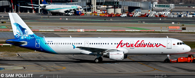 Maldivian Airbus A321 Decal