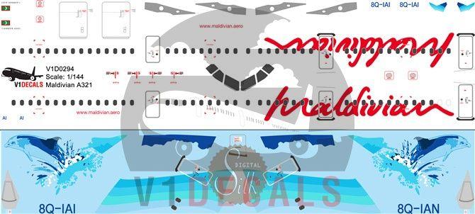 Maldivian Airbus A321 Decal