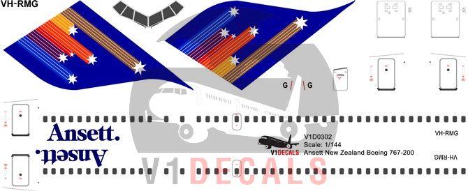 Ansett Australia Boeing 767-200 Decal