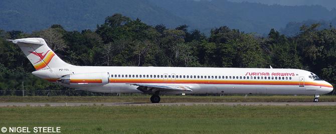 Surinam Airways McDonnell Douglas MD-80 Decal