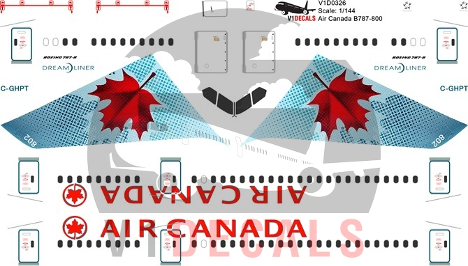Air Canada -Boeing 787-8 Decal