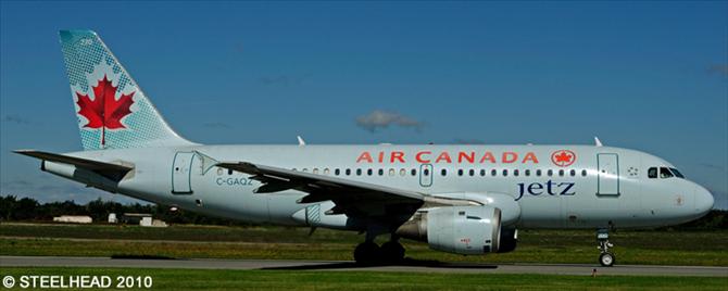 Air Canada Jetz Airbus A319 Decal