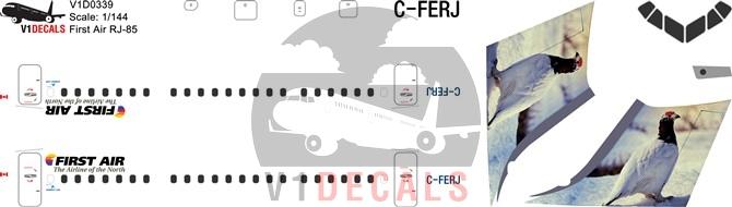 First Air, Summit Air -BAe Avro RJ-85 Decal