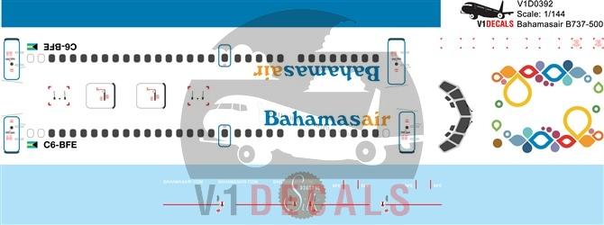 Bahamasair Boeing 737-500 Decal