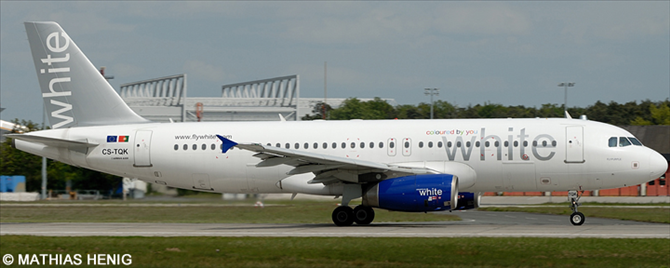 White Airways Airbus A320 Decal