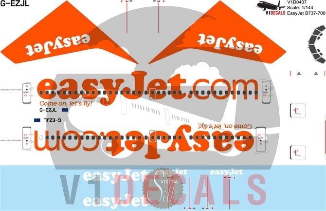 EasyJet -Boeing 737-700 Decal