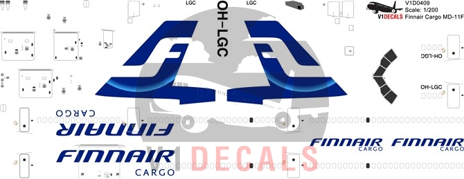Finnair Cargo McDonnell Douglas MD-11 Decal