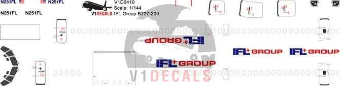 IFL Group -Boeing 727-200 Decal