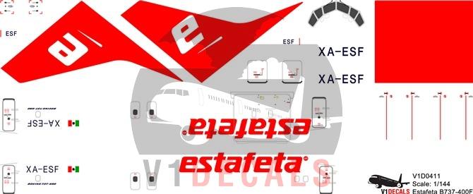 Estafeta -Boeing 737-400 Decal