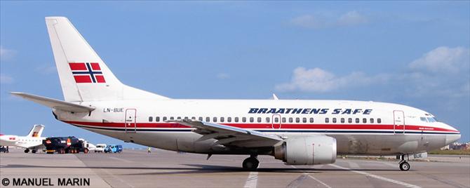 Braathens Safe -Boeing 737-500 Decal