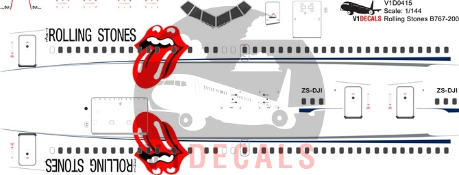 Rolling Stones -Boeing 767-200 Decal
