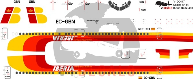 Iberia -Boeing 737-400 Decal