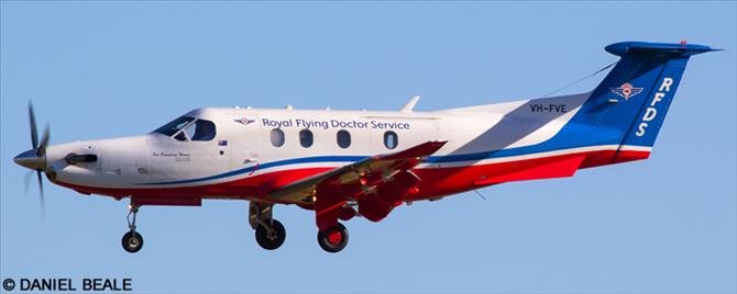 Royal Flying Doctor Service RFDS Pilatus PC-12 Decal