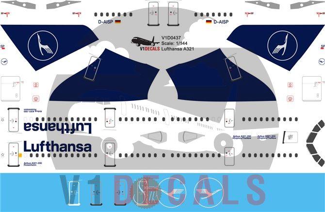 Lufthansa Airbus A321 Decal