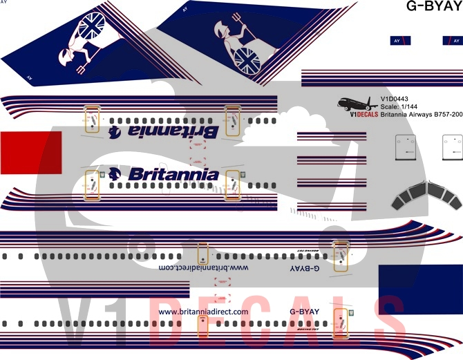 Britannia Airways -Boeing 757-200 Decal