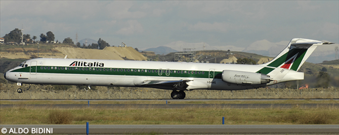 Alitalia McDonnell Douglas MD-80 Decal