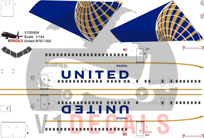 United Airlines -Boeing 767-300 Decal
