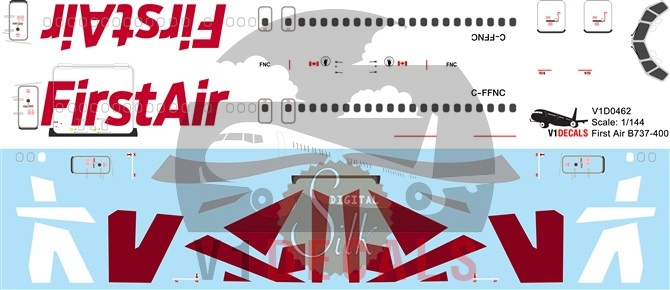 First Air -Boeing 737-400 Decal