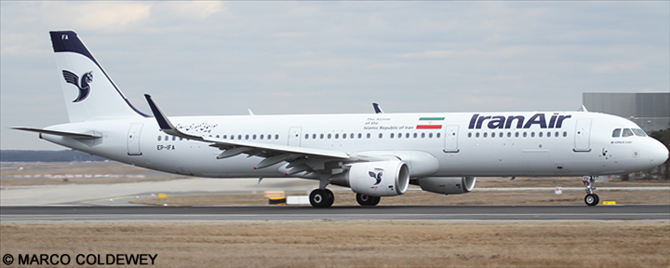 Iran Air Airbus A321 Decal