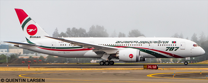Biman Bangladesh -Boeing 787-8 Decal