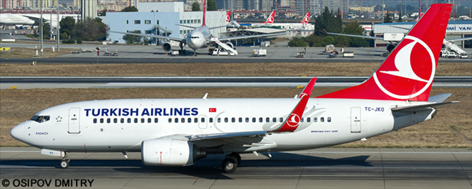 Turkish Airlines -Boeing 737-700 Decal