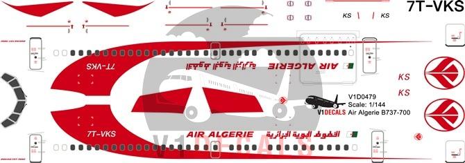 Air Algerie -Boeing 737-700 Decal