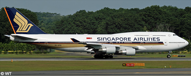 Singapore Airlines -Boeing 747-400 Decal