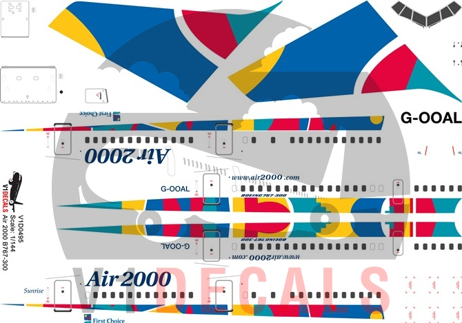Air 2000, First Choice Airways -Boeing 767-300 Decal