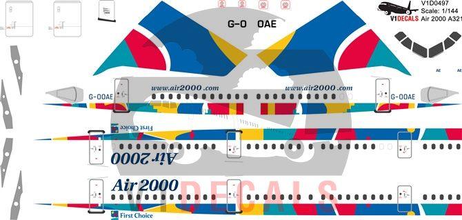 Air 2000, First Choice Airways Airbus A321 Decal