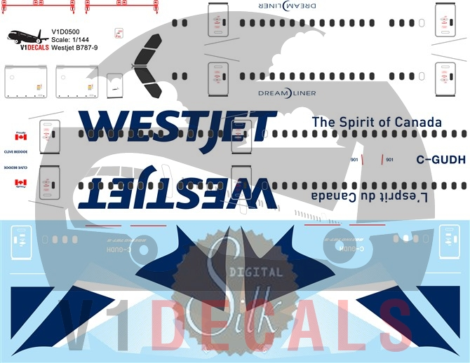 Westjet -Boeing 787-9 Decal