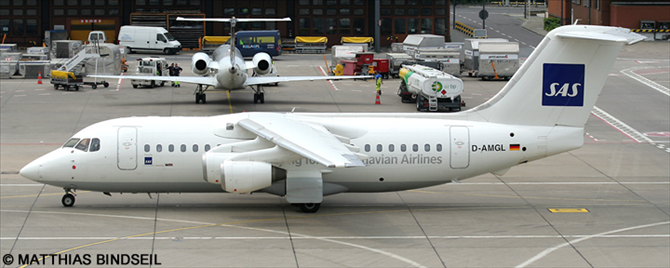SAS Scandinavian Airlines, WDL Aviation -BAe 146-200 - Avro RJ-85 Decal