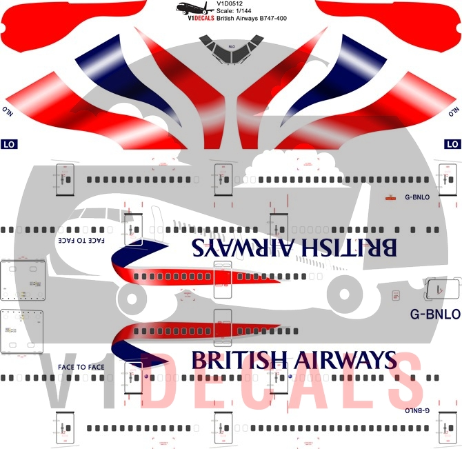 British Airways -Boeing 747-400 Decal