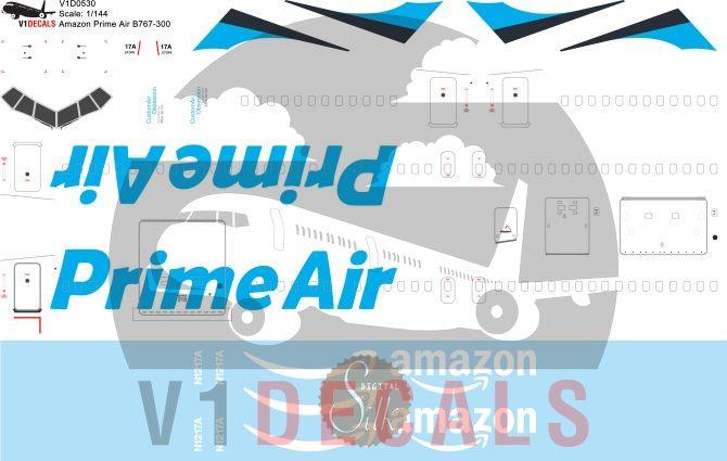 Amazon Prime Air, Atlas Air -Boeing 767-300 Decal