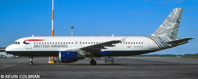 British Airways Airbus A320 Decal
