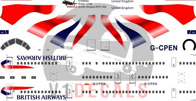 British Airways -Boeing 757-200 Decal