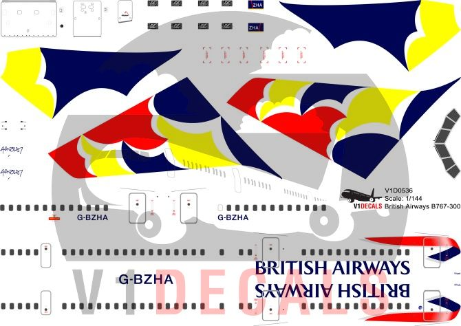 British Airways -Boeing 767-300 Decal
