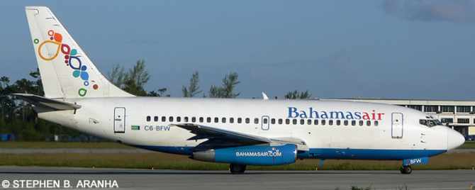 Bahamasair -Boeing 737-200 Decal