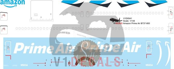 Amazon Prime Air, Southern Air -Boeing 737-800 Decal